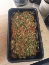 aubergine nut roast